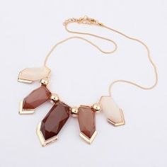 $5.28 Hot Sale Bead and Gemstone Embellished Pendant Alloy Necklace For Women