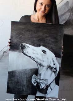 Greyhound from Spain size 50x70cm paper