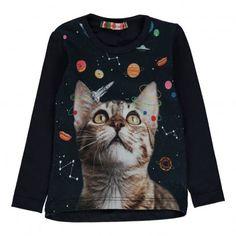 Lola Space Cat t-shirt Navy blue  ANNE KURRIS