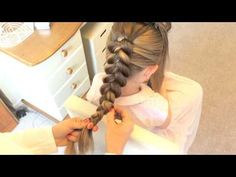 Stacked Dutch Braid with Fishtail by Sweethearts Hair Design - YouTube