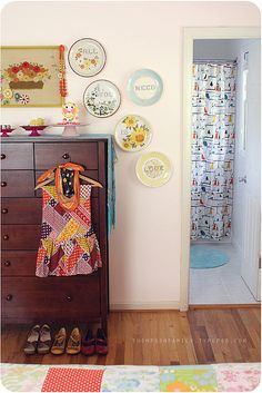 I love her home so much! Bedroom from the Thompson Family blog