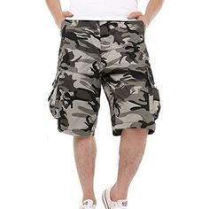 2b85929031 Shop Men's Cotton Loose Fit Camouflage Camo Cargo Shorts - Gray Camo - and  Discover a Huge Selection of Men's Shorts at Affordable Price.