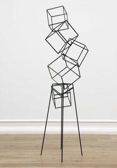 Eva Rothschild, Jokes, 2007 // painted oak, painted steel, 258 x 68 x 74 cm… Modern Art Sculpture, Sculpture Metal, Geometric Sculpture, Abstract Sculpture, Toothpick Sculpture, Metal Sculptures, Futuristisches Design, Deco Design, Art Public