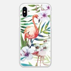 Must have Snap Case - Tropical Flamingo by Ruby Ridge Studios🌴 Available for iPhone X, iPhone 8, iPhone 8+, iPhone 7 and iPhone 7+. - Shop them here ☝️☝️☝️BEAUTIFUL BUT TOUGH ✨-Flamingo, Tropical, Colorful, Vibrant, Cases for girls- #animals #flamingo #iPhonecase