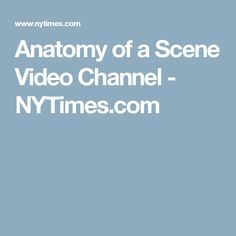 Anatomy of a Scene Video Channel - NYTimes.com