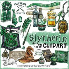 Slytherin clipart is good for Harry potter party decorations, invitations, Harry Potter Magie, Harry Potter Thema, Estilo Harry Potter, Cumpleaños Harry Potter, Harry Potter Stickers, Harry Potter Houses, Harry Potter Birthday, Harry Potter Universal, Hogwarts Houses