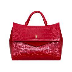 AALTO bag by Marja Kurki Red Leather, Leather Bag, Crocodile, Shoulder Strap, Handbags, Pattern, Quote, Pockets, Design