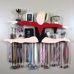 "Custom Gymnastics Awards Display -""MEGAN"" leo"