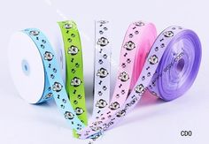 50yard 25mm Mixed Color Dog Satin Crafts Ribbon Cord