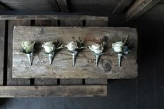 Keep it classic - Vandella Rose Buttonholes - www.theflowermilldraycott.co.uk