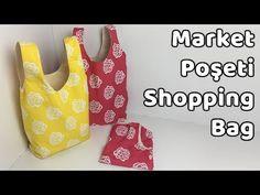 Market Poşeti Dikimi - Shopping Bag Sewing - YoncaHobby - YouTube Bag Sewing, Fitness Inspiration, Shopping Bag, Sewing Projects, Marketing, Purses, Tote Bag, Knitting, Youtube