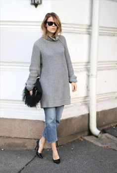N°3- cool dress. An oversized sweater can totally become a cute dress. But make sure it is actually OVERSIZED. Picture credit: google images.