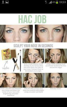 Scuplt nose makeup