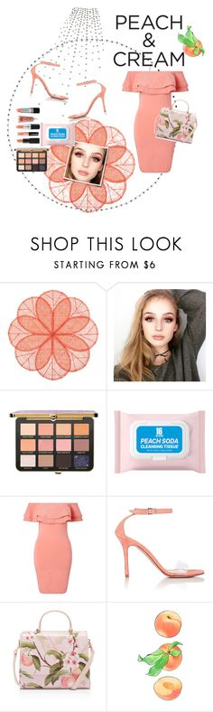 """""""Peach & Cream 🍑"""" by d-fashion98 ❤ liked on Polyvore featuring beauty, Deborah Rhodes, Too Faced Cosmetics, Miss Selfridge, Barneys New York, Ted Baker and peachlipstick"""