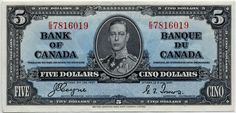 canadian currency | Canadian Paper Money – The 1937 Series | Montreal Coin Expert