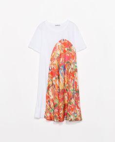 Zara Printed T-shirt Dress
