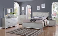 McFerran White Queen Bed B508-Q For $339
