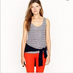 {J.Crew} stripe sequin tank New without tags. Size XS. J. Crew Tops Tank Tops