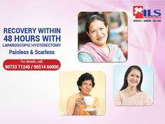 Undergoing a treatment at ILS Hospitals is as simple as 1, 2, 3! With Laparoscopic #Hysterectomy retaining #womanhood is easier and moreover, patients start recovering within a matter of 48 hours. For more information, dial: +91-90733 71240 / +91- 90514 60000.