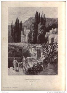 """Kloster bei Spalato  - Druck, entnommen   aus """"die Gartenlaube"""", 1897"""