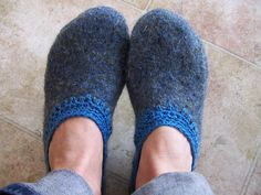 Felted Sweater Slippers by idiggoodfood, via Flickr