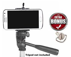 Cell Phone Tripod Adapter - iPhone Tripod Mount - SE 6 6S. It's a little clip that holds your phone but screws into a tripod base.