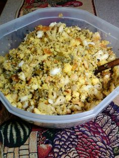 Our family favorite at Thanksgiving - Cornbread Stuffing!