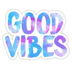 Good vibes laptop sticker free spirit trendy  Sticker