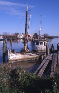 old shrimp boats