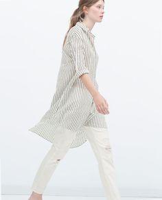 Imagem 3 de LONG ASYMMETRIC SHIRT da Zara