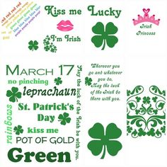 St Patrick/'s Day Harp Selection Glossy Finish Card Making Toppers Crafts