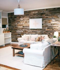 Great way to add unique wood to your walls. Love. http://www.stikwood.com/