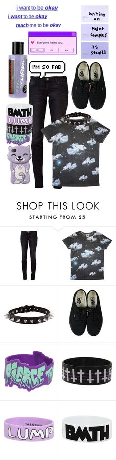 """""""..."""" by perfect-in-black ❤ liked on Polyvore featuring Current/Elliott, Prints of Paradise, Vans and Manic Panic NYC"""
