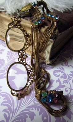 'the dowager's spectacles' necklace by The French Circus on Etsy