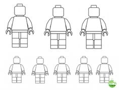 Lego People Template- Draw Your Family (Printable)