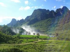 Ban Gioc Waterfall, seen from the road, Cao Bang Province Amazing Places On Earth, Travel Guides, The Good Place, Vietnam, Waterfall, Around The Worlds, Landscape, Kiosk, Outdoor