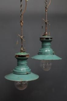 rustic lighting fixtures | Lumax pendant rewired gas lamps ~ love the color