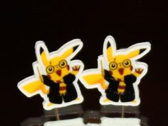 Pikachu Dressed As Harry Potter Earrings  perfect combination for the Clary girls!