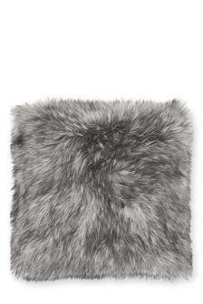 Tipped Faux Fur Cushion (714410)   £16