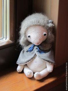 """мишка """"зимний малыш"""" - белый,вязаная игрушка,Вязание крючком,мишки тедди"""