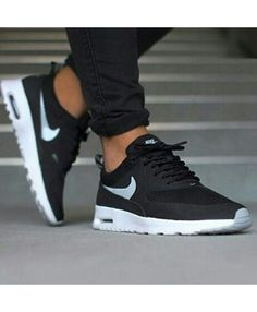 the latest 13d42 647b0 Chaussure Nike Air Max Thea Originals Noir Blanche Cheap Nike, Nike Shoes  Cheap, Nike