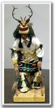 Vintage 1976 Deer Dancer by Lucy Yepa Lowden Authentic Indian Figures Kachina | eBay