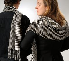 Muffy Young, ACE, #fiber wearable artist 2015 #stripes #scarf