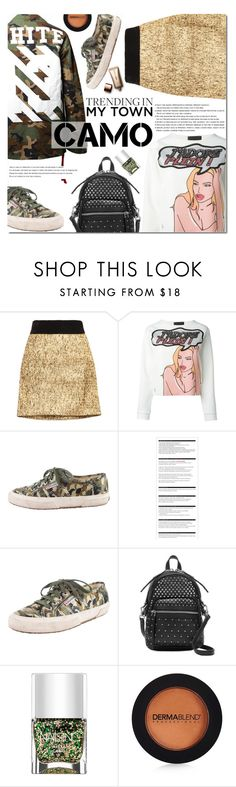 """Camo Style"" by bibibaubau ❤ liked on Polyvore featuring Djaba Diassamidze, Off-White, Philipp Plein, Superga, Arche, Marc by Marc Jacobs, Nails Inc., Dermablend and Nude by Nature"