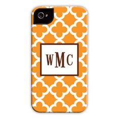 Bristol Tile Tangerine iPhone Hard Case