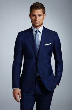 Navy Blue suit/ baby blue shirt/ sky blue tie #mensfashion #mensstyle #mensoutfit