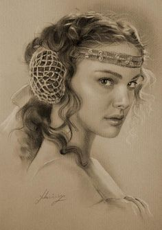 Natalie as amidala - View the websitePosted in Illustrations using the Tags: Krzysztof Lukasiewicz, Pencil Sketches
