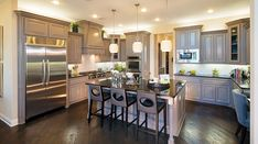 If you enjoy cooking, you might decide to turn your kitchen into gourmet kitchens. The gourmet kitchens are kitchens that focuses on the love of food and cooking. Kitchen Dinning, Kitchen Decor, Kitchen Ideas, Kitchen Colors, Kitchen Stuff, Dining Rooms, Küchen Design, House Design, Design Elements