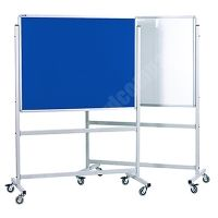 Mobile dry wipe & felt board ideal for classrooms.