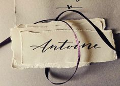 Handwritten name tags. Bespoke artistic modern calligraphy services for weddings and exquisite events. Modern Calligraphy, Bridal Accessories, Service Design, Bespoke, Hand Lettering, Artsy, Events, Weddings, Tags